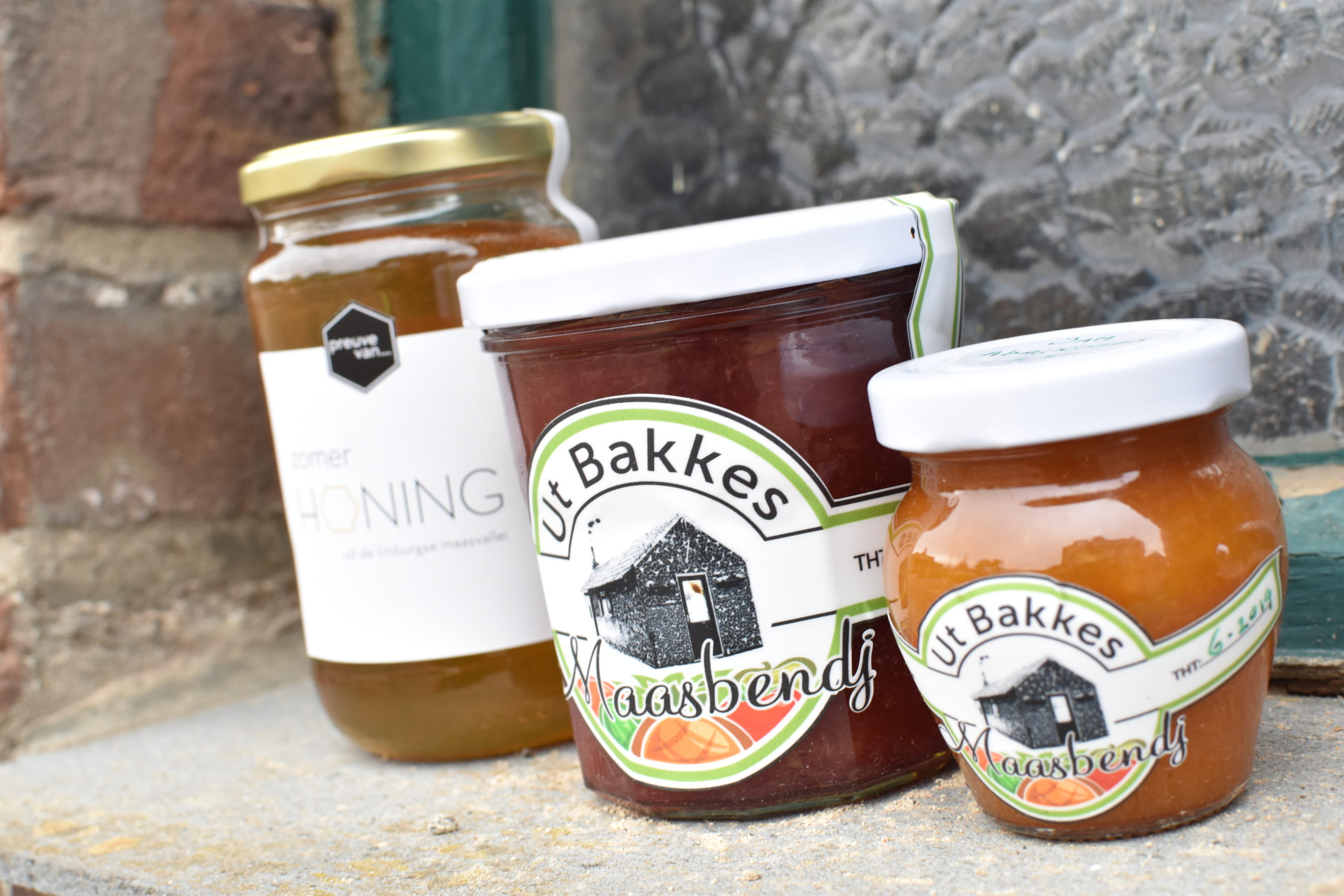 Ut Bakkes Maasband streekproducten jam en honing